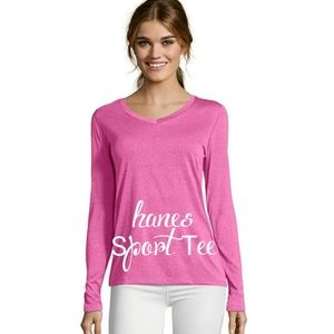 New Hanes Heather Pink Dr fit Sports Top